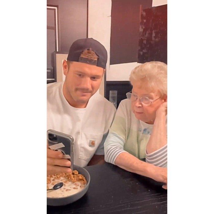 Colton Underwood, de licenciatura, recluta a su abuela para que lo ayude a encontrar pareja en Tinder