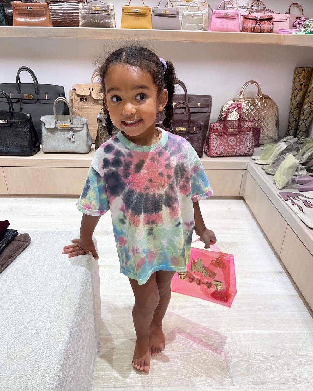LOL! Chicago West Tries to 'Sneak Off' With Kim Kardashian's Designer Bag