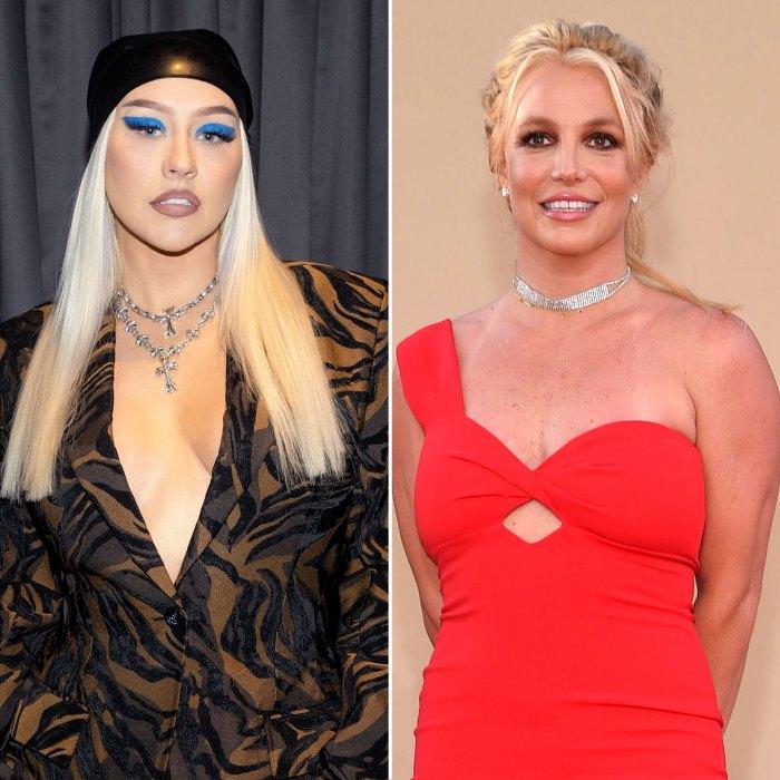 Christina Aguilera está parada por Britney Spears