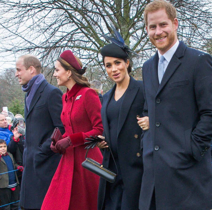 Christmas Day Service Prince William and Duchess Kate Relationship With Prince Harry and Meghan Markle