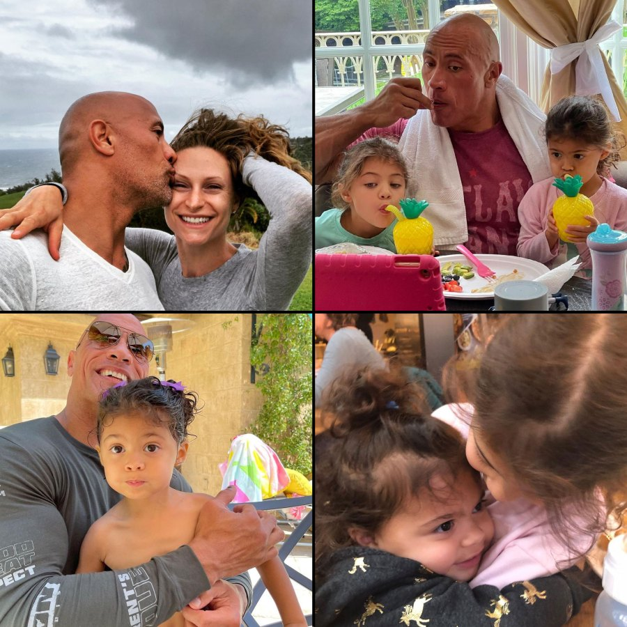 Dwayne The Rock Johnson and Lauren Hashian Cutest Snaps With Their Daughters