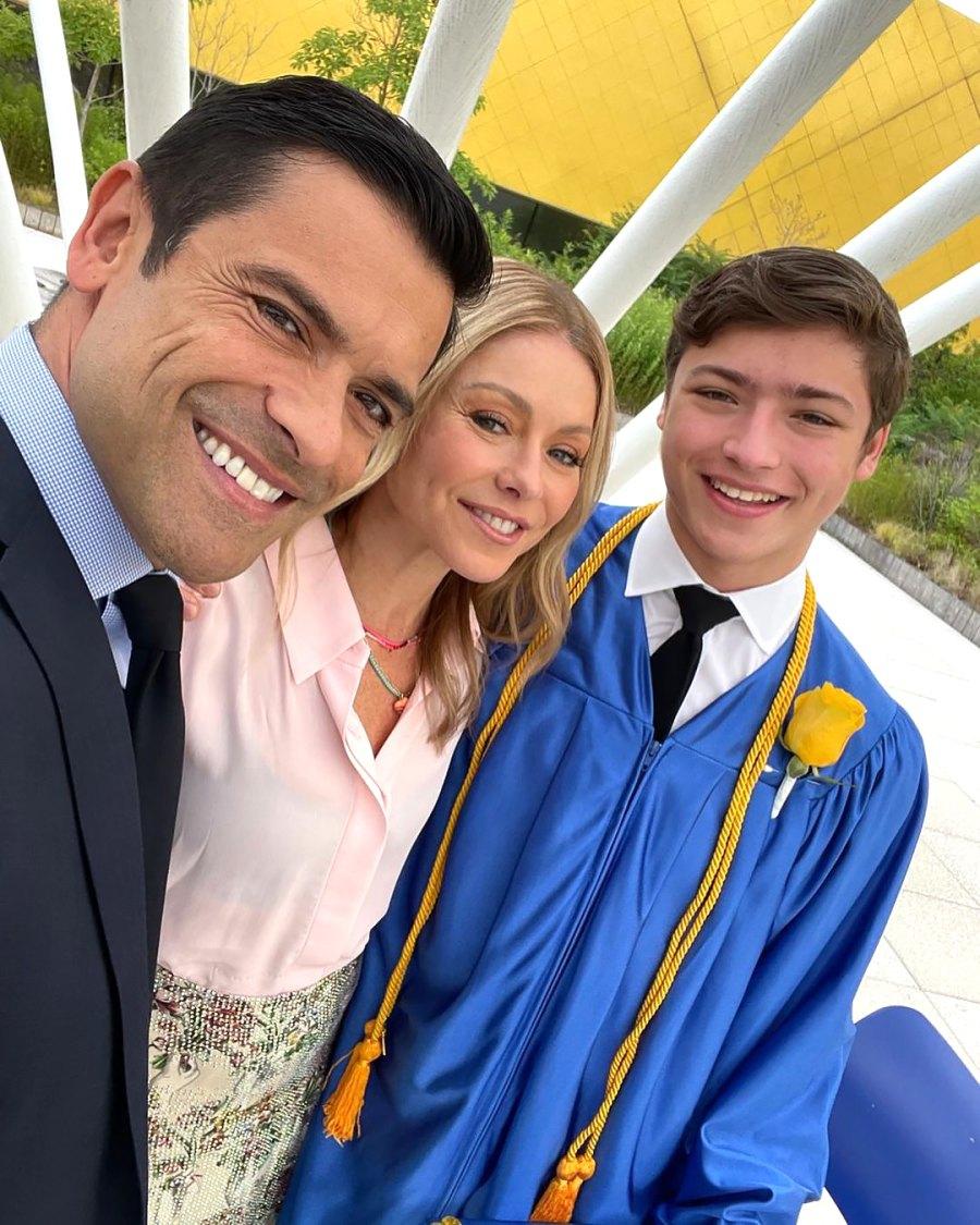 'Empty Nesters' Kelly Ripa and Mark Consuelos Celebrate Son Joaquin's High School Graduation