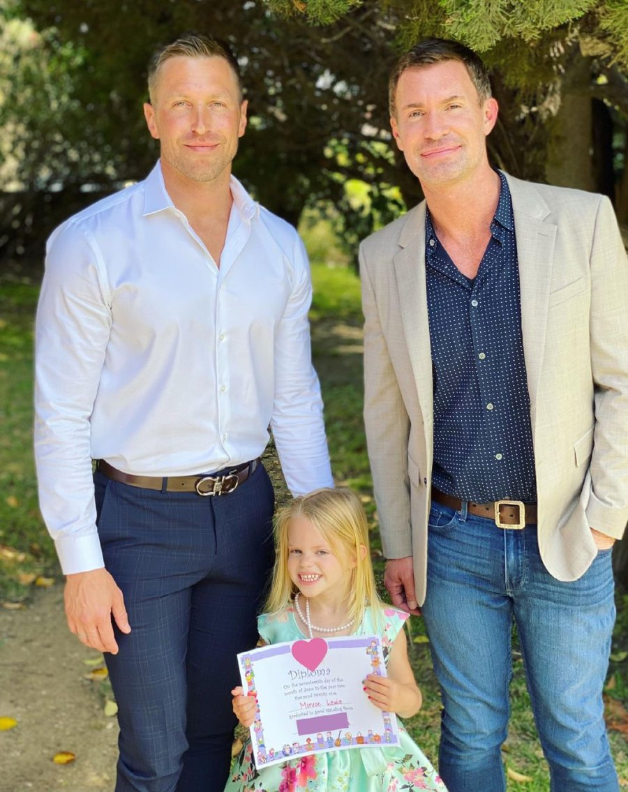 Exes Jeff Lewis and Gage Edward Attend Daughter Monroe's Graduation