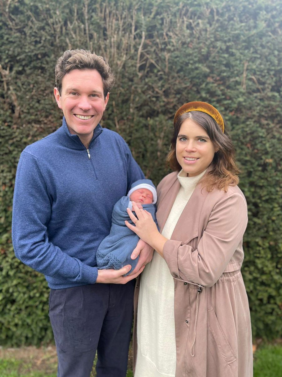 Family of Three Princess Eugenie and Jack Brooksbank Cutest Photos With Son August