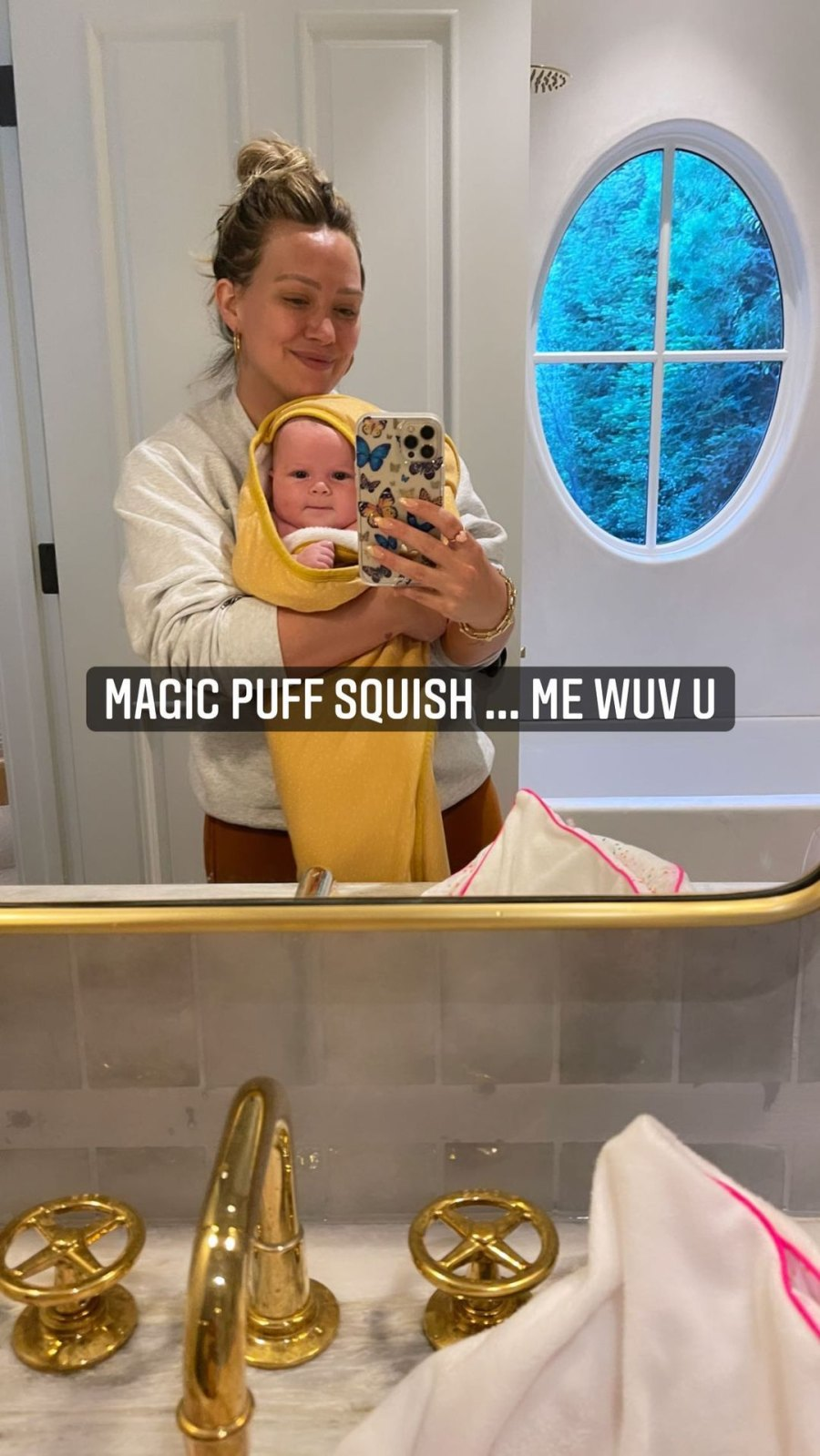 Hilary Duff and Matthew Koma's Youngest Daughter's Baby Album Towel Time