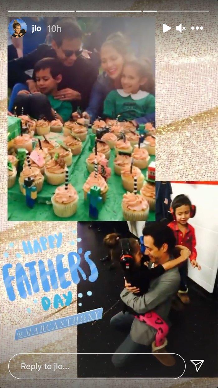 Jennifer Lopez celebra a su ex Marc Anthony en el día del padre con dulces fotos