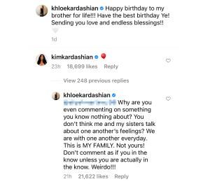 Khloe Kardashian Claps Back Troll Who Criticized Her Kanye West Birthday Post