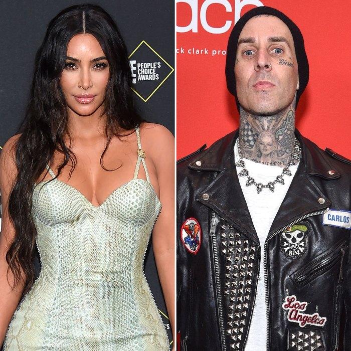 Kim Kardashian Has Fun With Travis Barker After Denying Hookup Claims
