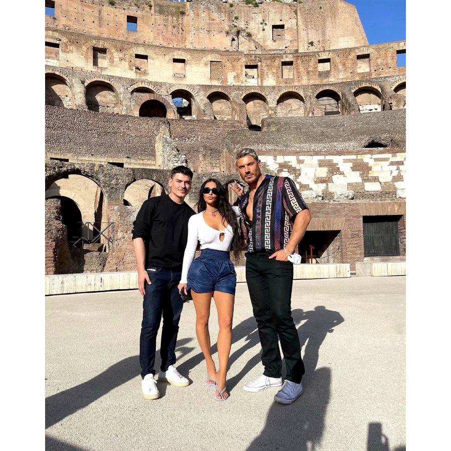 Kim Kardashian Visits Vatican City Sheer Lace Dress