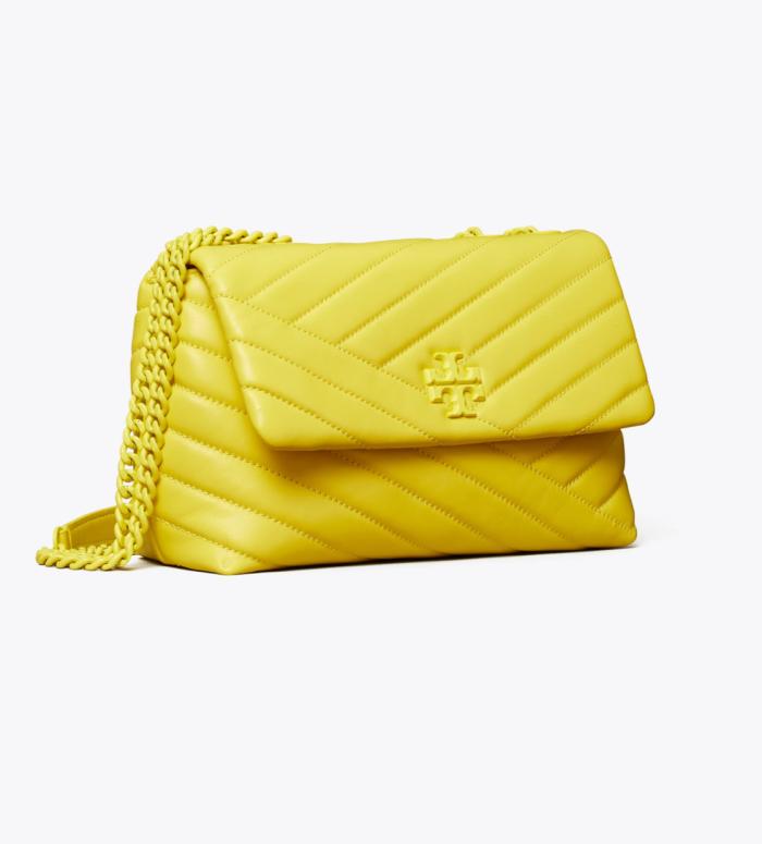 Kira Chevron powder coated small convertible shoulder bag