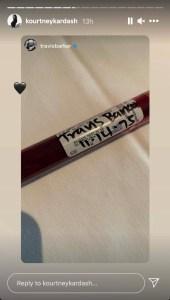 Kourtney Kardashian Posts Edgy Photo Travis Barkers Blood Vial