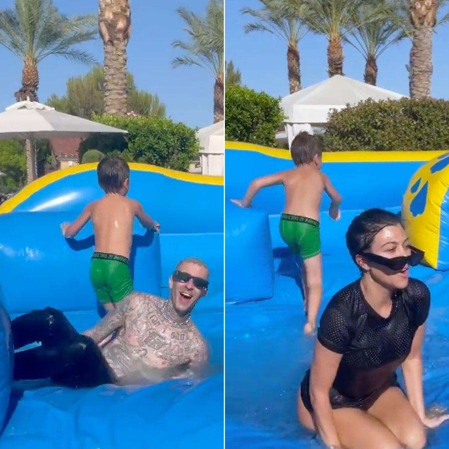 Inside Kourtney Kardashian and Travis Barker's Memorial Day Celebration With Her Kids: Photos
