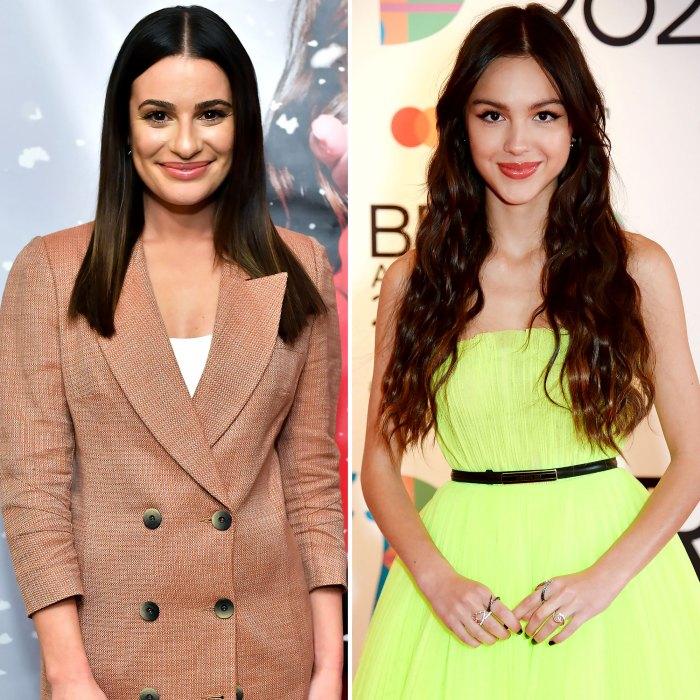 Lea Michele Listens Olivia Rodrigos Glee Lyrics After Costar Drama