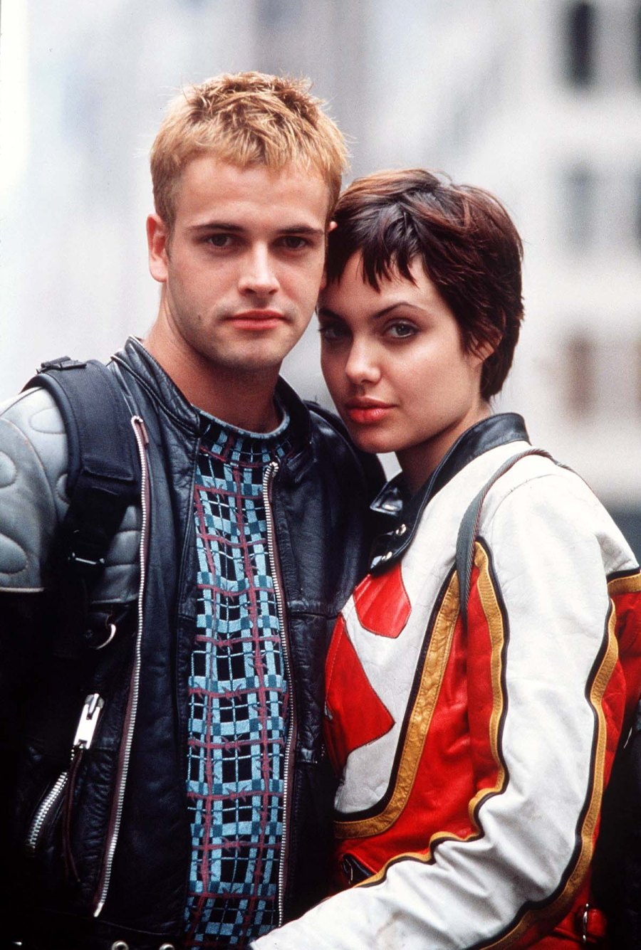 Leather Blood Relive Angelina Jolies Romance With Ex Jonny Lee Miller