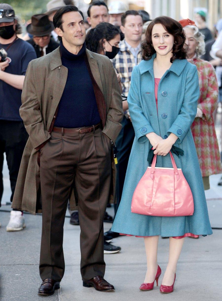 Milo Ventimiglia Joins Marvelous Mrs Maisel Photos With Rachel Brosnahan Couldnt Be Cuter