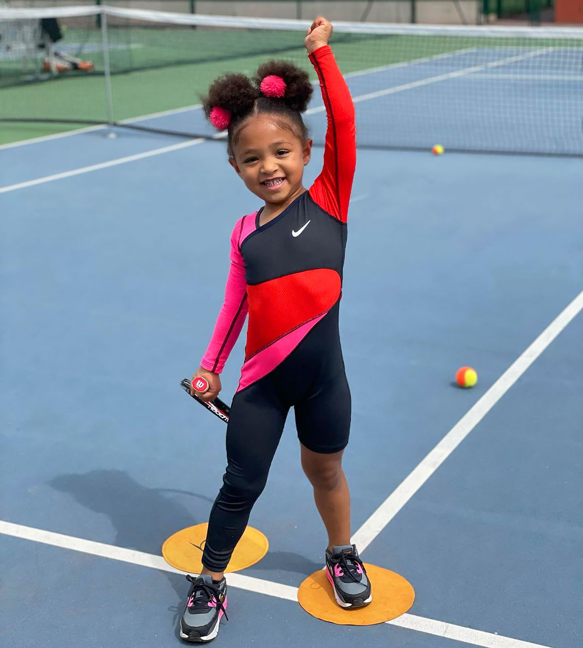 Olympia Ohanian Rocks a Mini Version of Serena Williams' Tennis Outfit