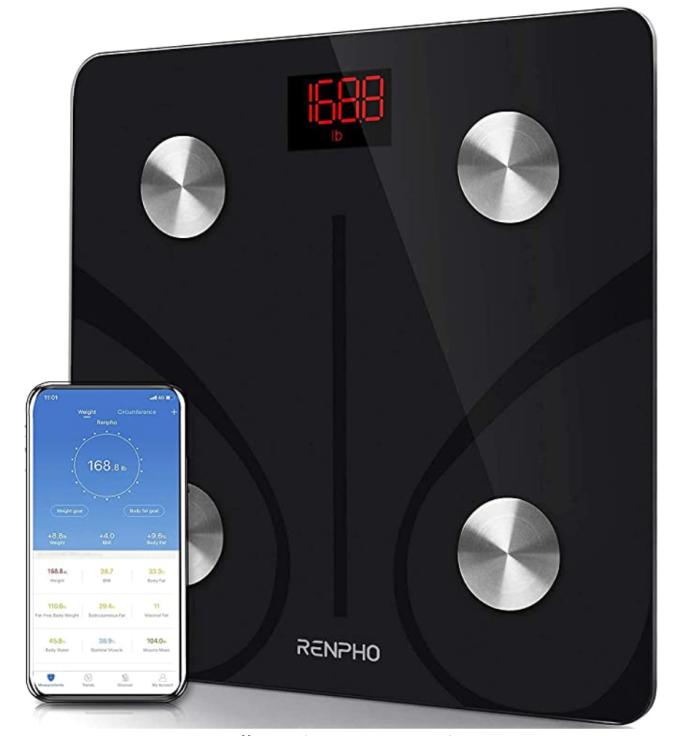 RENPHO Body Fat Scale Smart BMI Scale Digital Bathroom Wireless Weight Scale