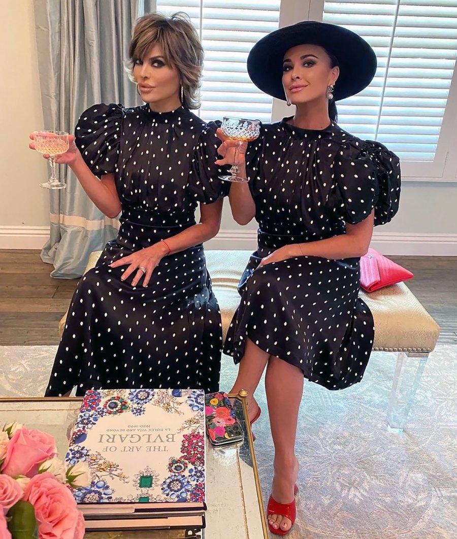'RHOBH' Goals! Lisa Rinna and Kyle Richards Twin in Polka Dot Dresses