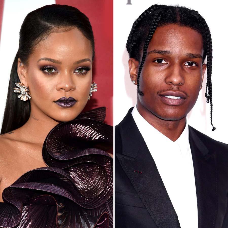 Rihanna ASAP Rocky Enjoy PDA Filled Date Night NYC