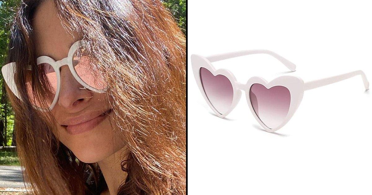 Sarah Shahi Heart Shaped Sunglasses – Get a Similar Pair for Just $ 8