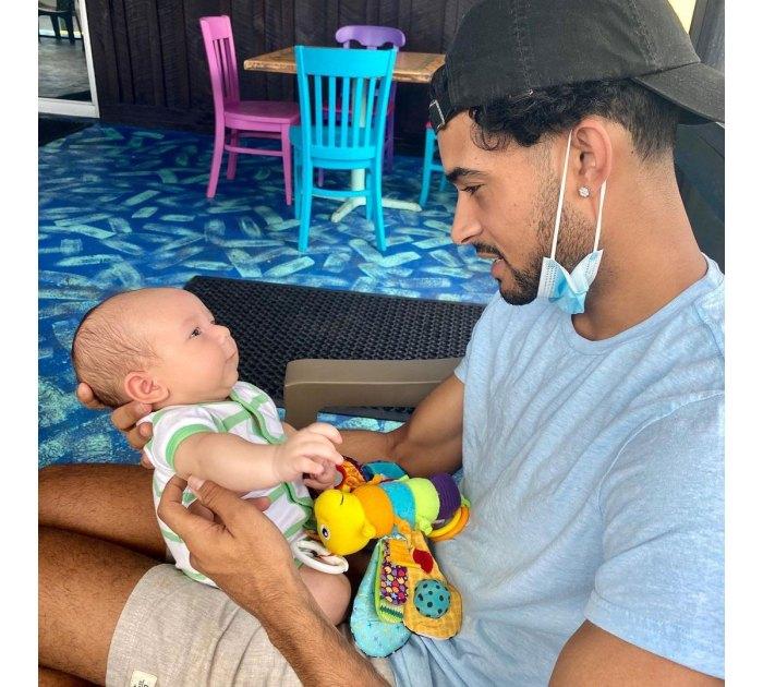 Siesta Key Brandon Gomes siendo papá