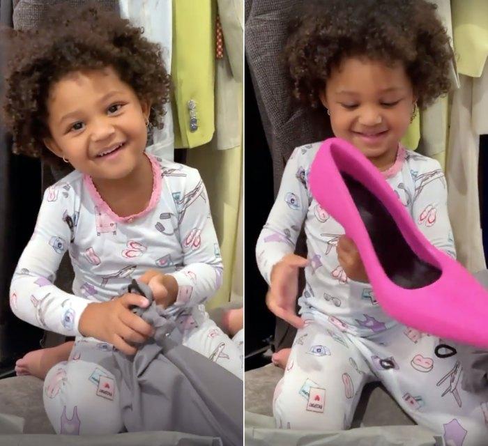 Stormi Webster ayuda a Kylie Jenner a deshacerse de los zapatos de tacón Balenciaga de $ 3,250