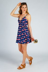 The National Anthem American Flag Strappy Dress