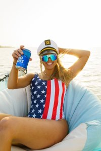The Reagans American Flag One Piece Swimsuit