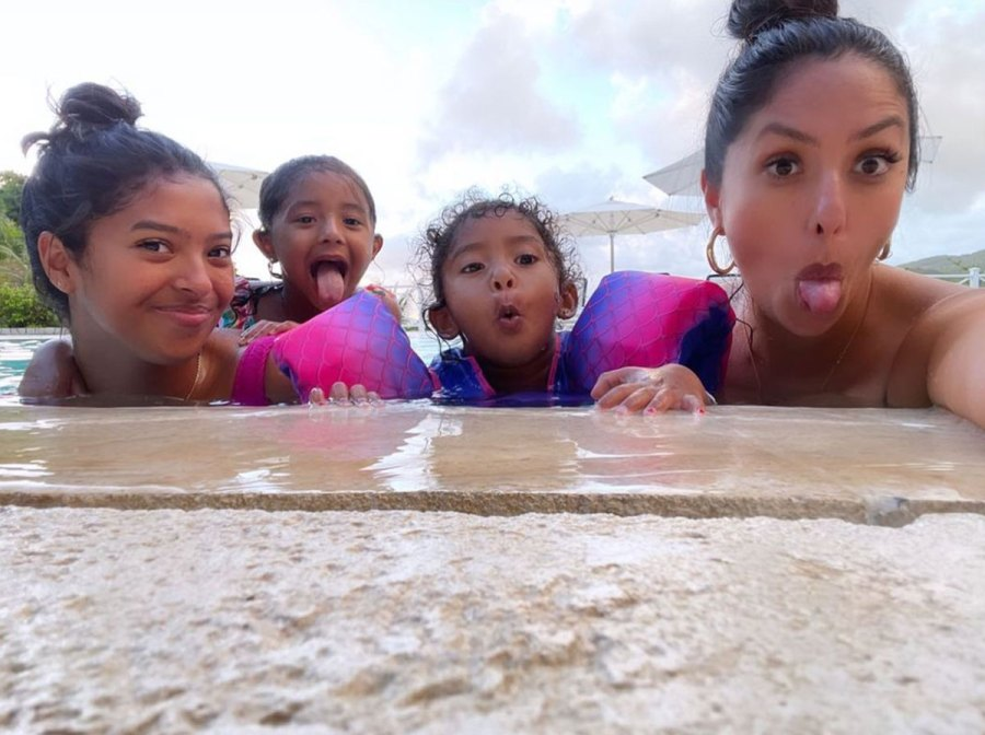 Vanessa Bryant and Daughters Vacation in Jamaica With Late Kobe Bryant Family 10