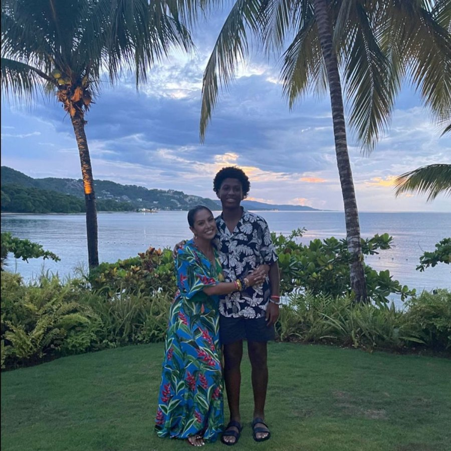 Vanessa Bryant and Daughters Vacation in Jamaica With Late Kobe Bryant Family 4
