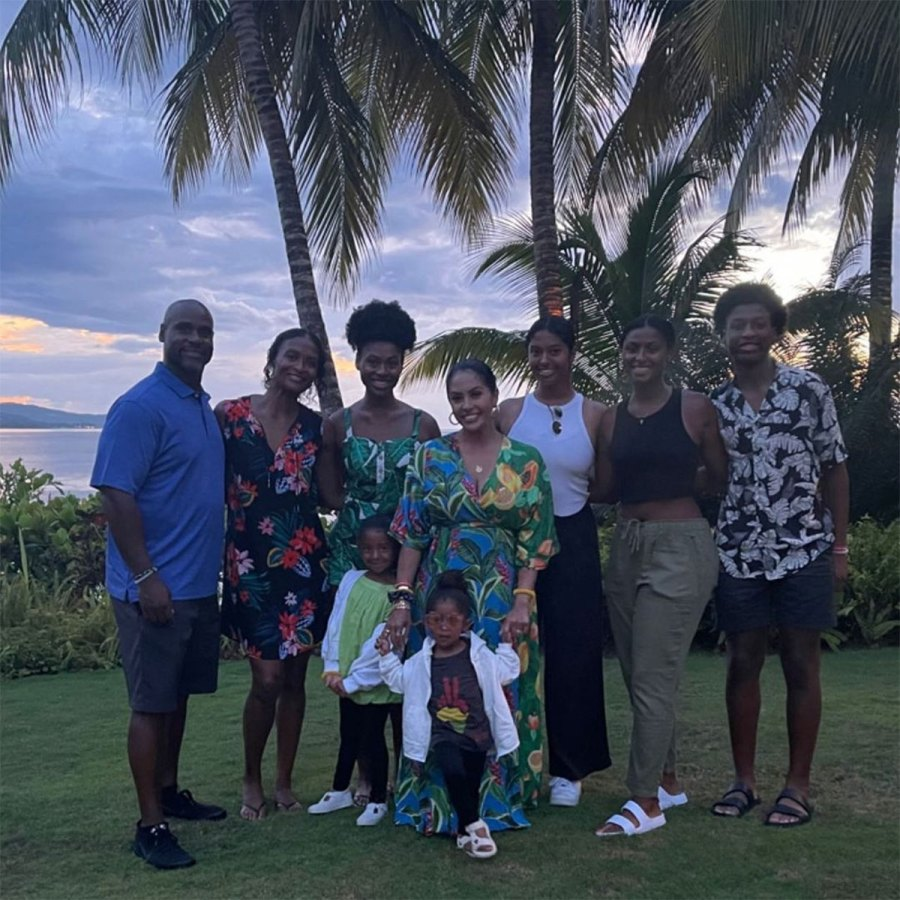 Vanessa Bryant and Daughters Vacation in Jamaica With Late Kobe Bryant Family 9