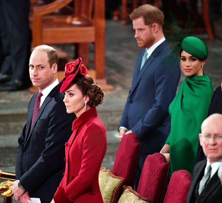 William and Kate snub Harry and Meghan at Commonwealth Day Service Prince William and Duchess Kate Relationship With Prince Harry and Meghan Markle