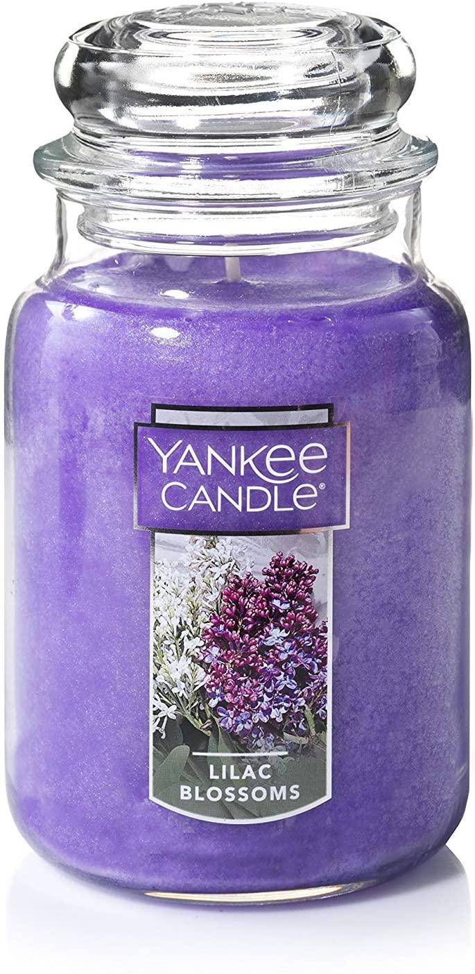 Yankee Candle Vela de tarro grande Flores de color lila