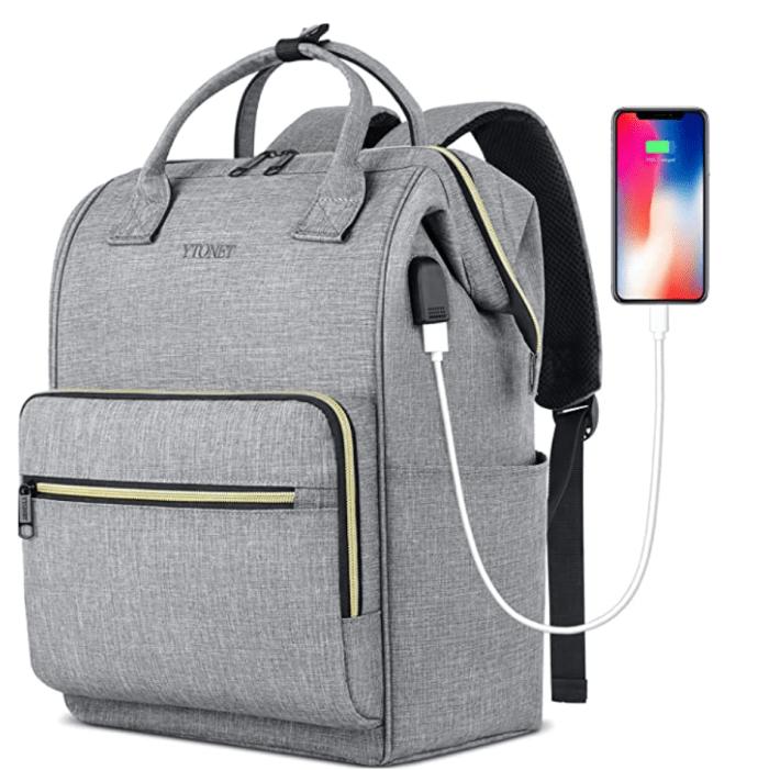 Ytonet Laptop Travel Backpack for 15.6 Inch Laptop with RFID Pocket USB Charging Port