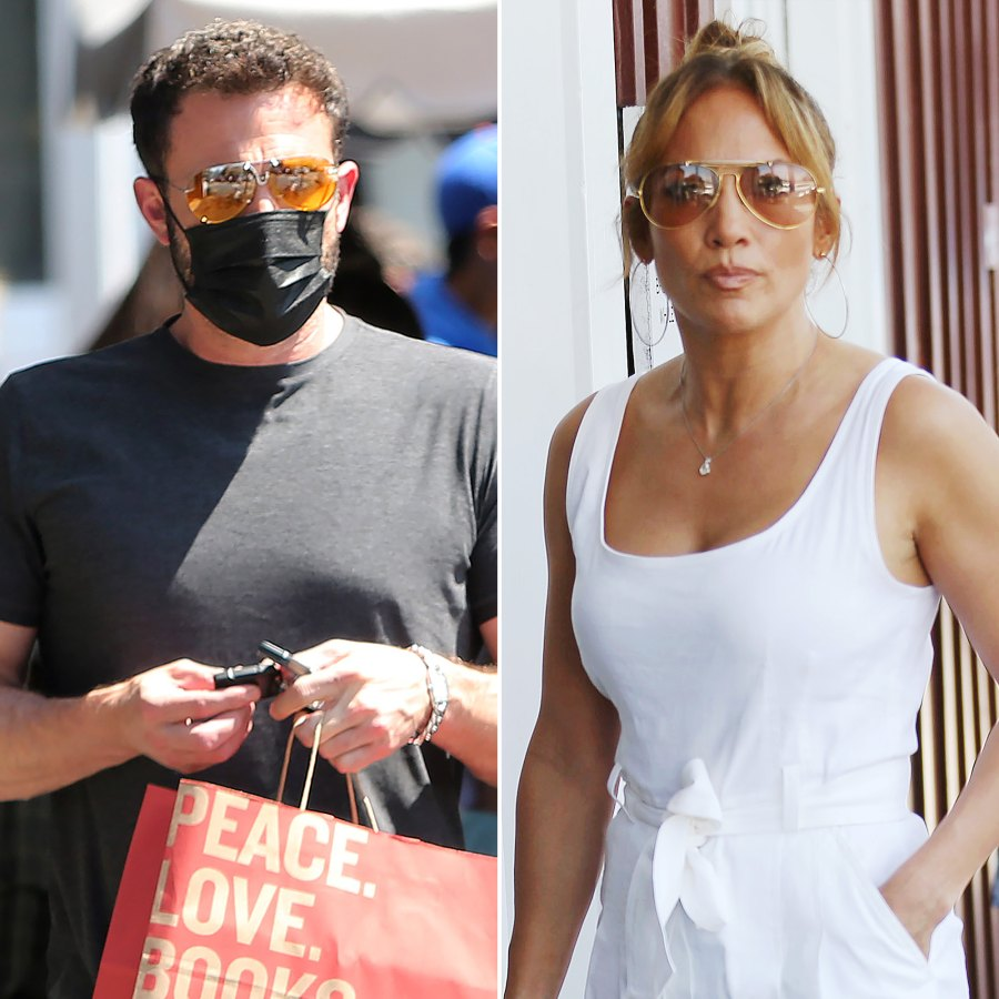 Ben Affleck and Jennifer Lopez Stay Close During Shopping Trip: Photos