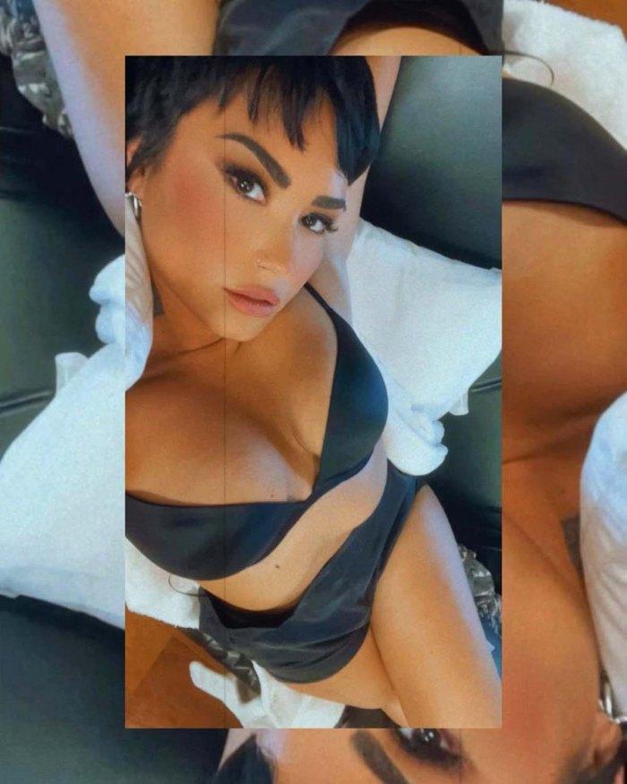 Body Confidence Demi Lovato Shares Lingerie Selfie