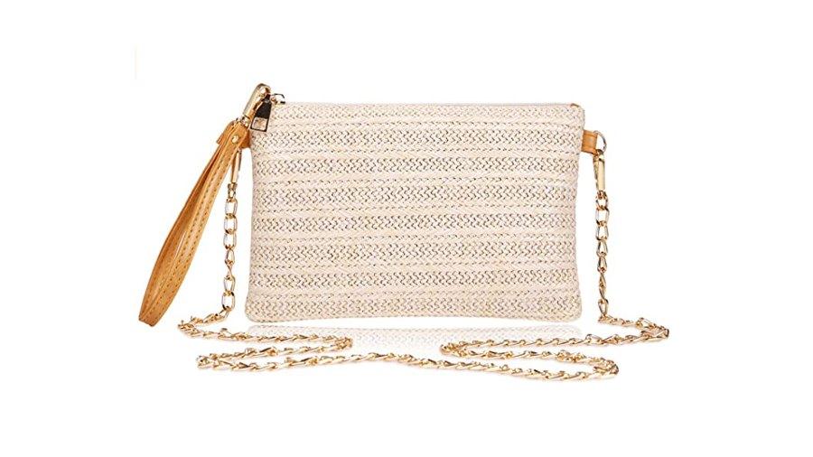 COOKOOKY Women's Straw Clutch Bag