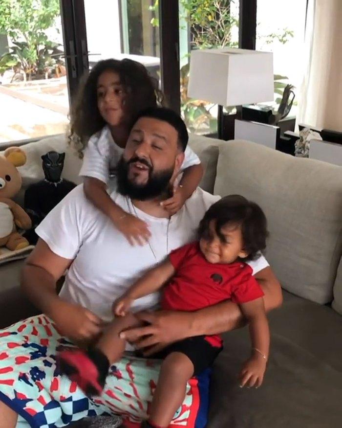DJ Khaled con sus hijos