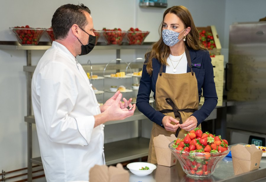 Duchess Kate Helps Makes a Strawberry Cake at the Wimbledon Championships