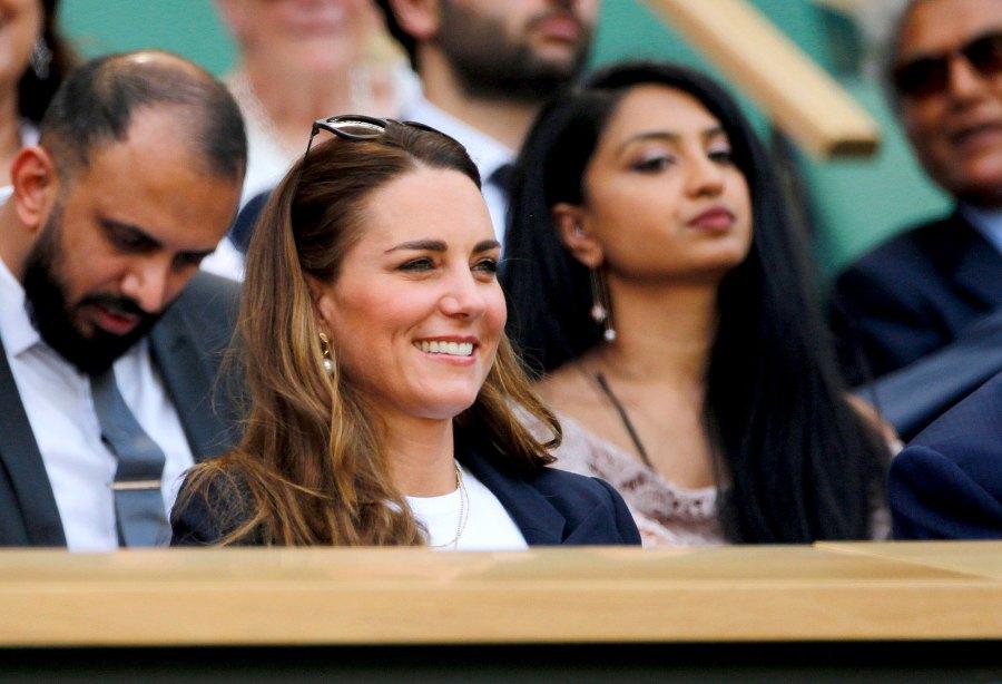 Duchess Kate Middleton Watches Day 1 Wimbledon Tennis Tournament 6