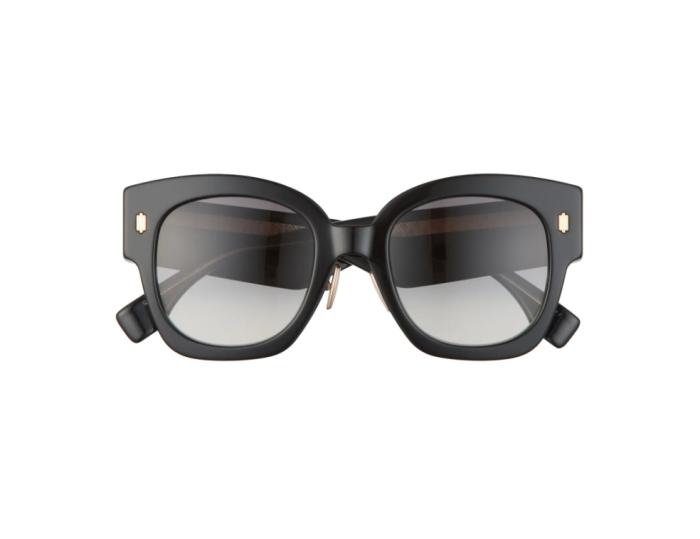 Gafas de sol cuadradas con degradado de 52 mm Fendi