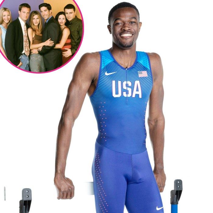 Amigos ayudaron al corredor olímpico Rai Benjamin a calmar sus nervios antes de la carrera