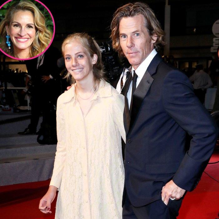 La hija de Julia Roberts, Hazel, debuta en la alfombra roja con su papá Danny Moder