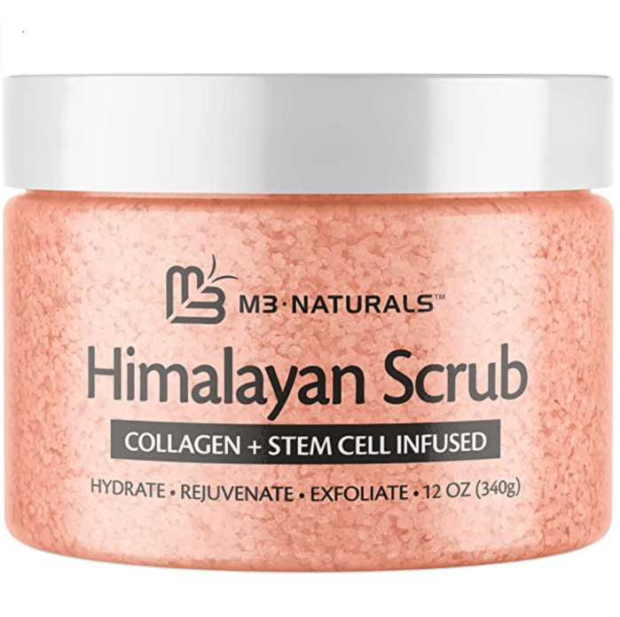 M3 Naturals Himalayan Salt Body Scrub Infused with Collagen and Stem Cell