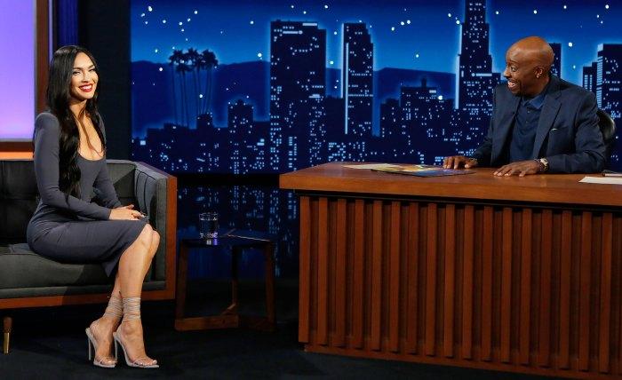 Megan Fox Intentionally Coordinates Outfits With Machine Gun Kelly Jimmy Kimmel Live Arsenio Hall