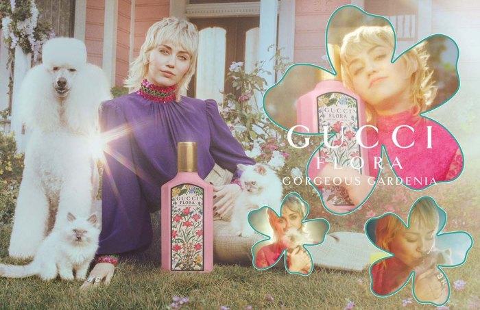 La campaña de fragancias de Miley Cyrus Gucci combina grunge con fantasía floral