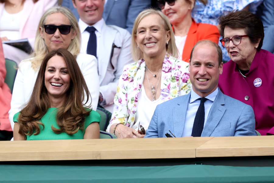 Prince William and Kate Middleton Attend Wimbledon Together After She Was Exposed to COVID: Photos