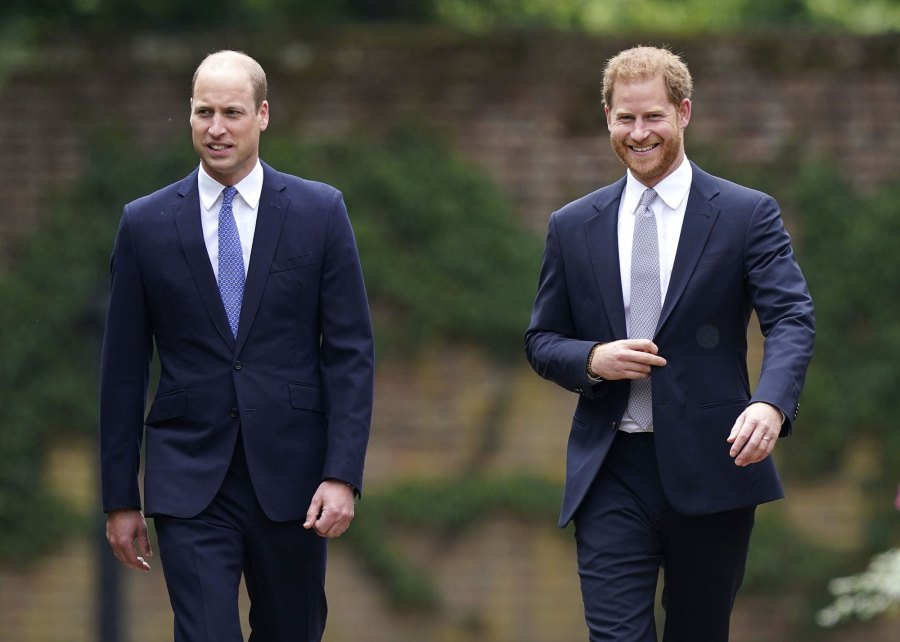 Prince William and Prince Harry Reunite Princess Diana Statue Unveiling Amid Feud 5