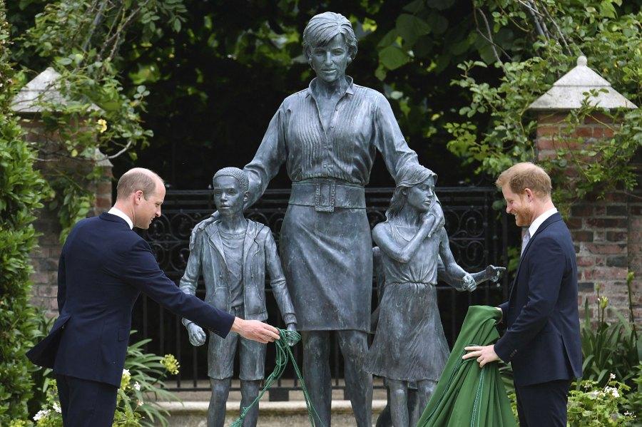 Prince William and Prince Harry Reunite Princess Diana Statue Unveiling Amid Feud