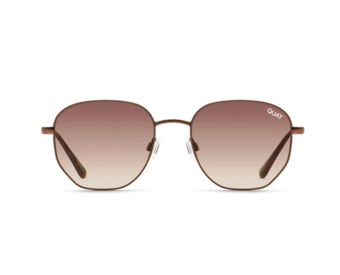 Quay Australia Big Time 48mm Gradient Round Sunglasses